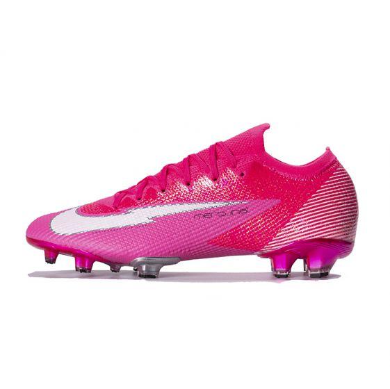 Kids Nike Mercurial Vapor 13 Elite FG x Mbappé - Pink Blast/White/Black