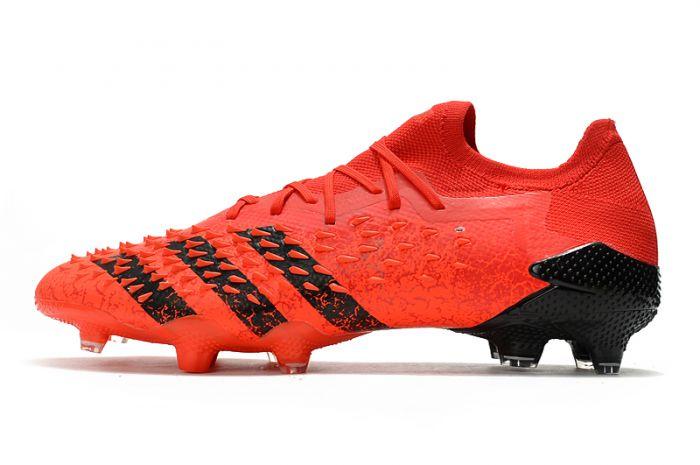 Adidas Predator Freak.1 'Meteorite' Low FG Red core Black Solar Red