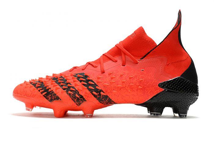 Adidas Predator Freak.1 'Meteorite'FG Red core Black Solar Red