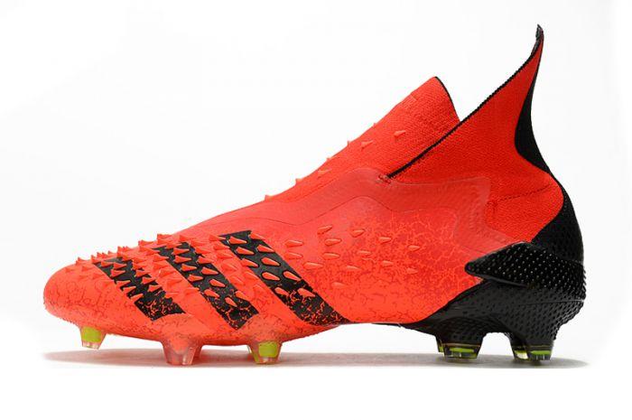 Kids Adidas Predator Freak 'Meteorite' FG Red core Black Solar Red