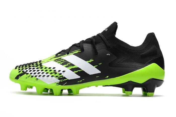 Adidas Predator Mutator 20.1 AG Low Signal Green / Black Soccer Cleats