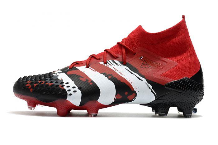 adidas Predator Mutator 20+ Human Race FG Firm Ground Cleats True Red / Cloud White / Core Black