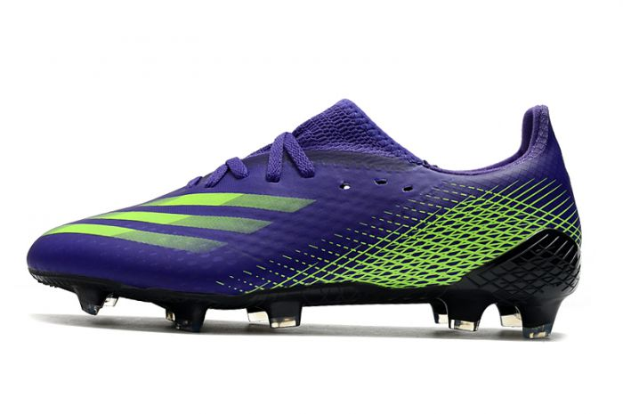 Adidas X Ghosted.1 - FG Purple Solar Green Soccer Cleats