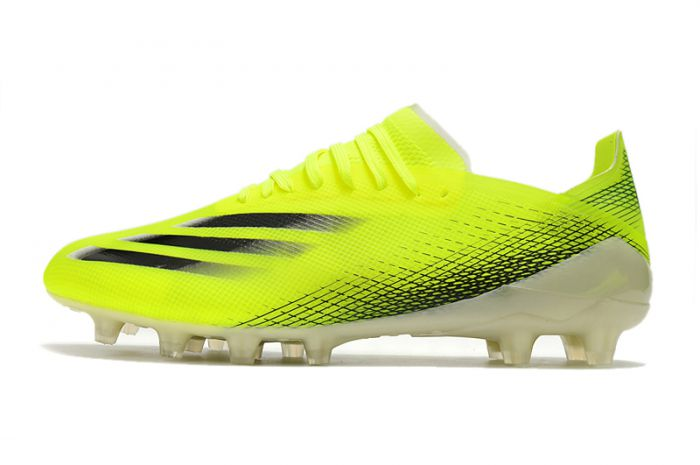 Adidas X Ghosted.1 AG - Solar Yellow Black Soccer Cleats