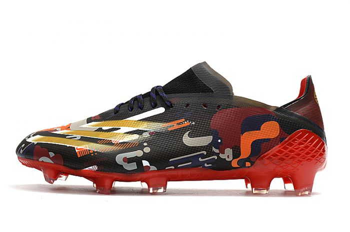 Adidas X Ghosted.1 FG Chinese New Year - Core Black / Gold Metallic / Scarlet Soccer Cleats