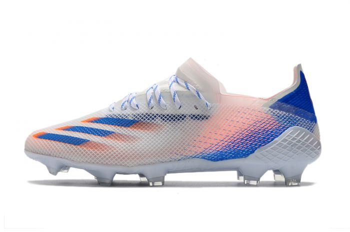Adidas X Ghosted .1 FG White/Blue/Orange Soccer Cleats