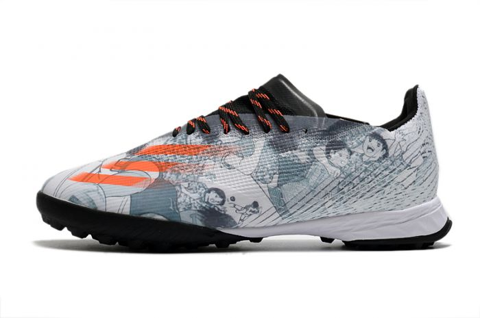 adidas X Ghosted .1 TF Captain Tsubasa White Black Orange cleats