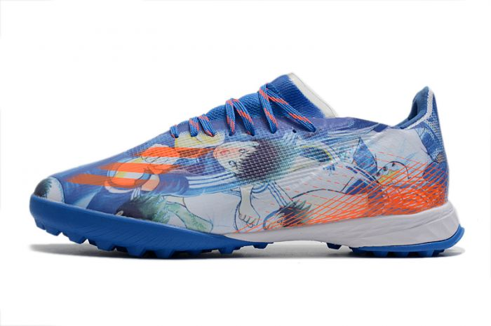 adidas X Ghosted .1 TF Captain Tsubasa White Blue Red cleats