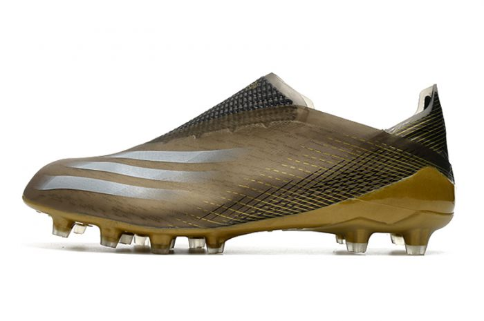 Adidas X Ghosted+ AG 'Atmospheric Pack' - Black Gold Soccer Cleats