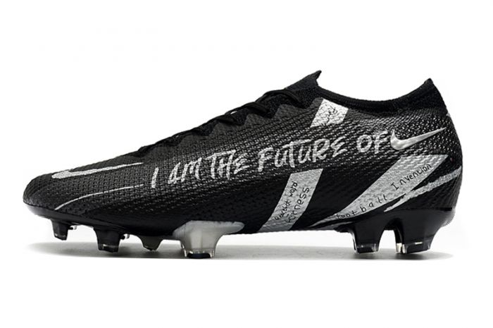 Nike Mercurial Vapor XIII Elite FG Black Silver Cleats