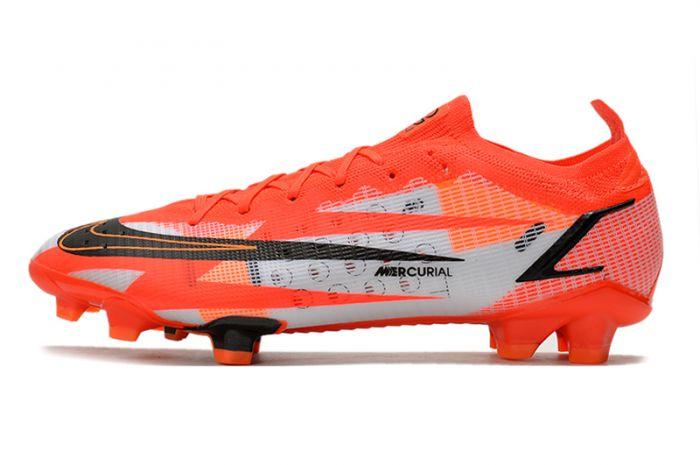 Kids Nike Mercurial Vapor 14 Elite CR7 FG - Chile Red/Black/Ghost/Total Orange