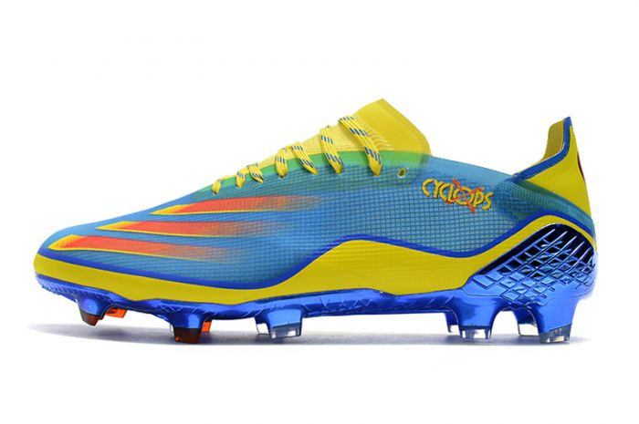 adidas X Ghosted .1 FG Football Boots Blue/Vivid Red/Bright Yellow