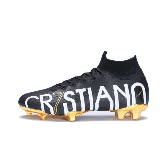 Kids Nike Mercurial Superfly VI Elite CR7 Special Edition FG Black Metallic vivid gold