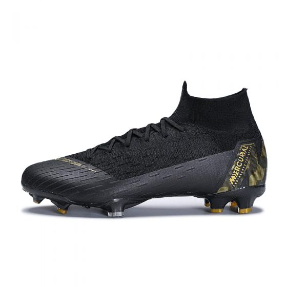 Kids Nike Mercurial Superfly VI Elite FG Black Metallic Gold