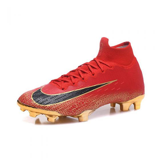 Kids Nike Mercurial Superfly VI FG CR7 China Edition Red Gold