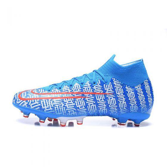 Kids Nike Mercurial Superfly VII Elite AG CR7 Shuai Blue White Orange