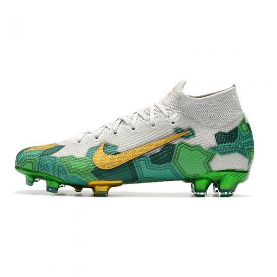 Kids Nike Mercurial Superfly VII Elite FG Mbappe Bondy FG Vast Grey Gold Electro Green)