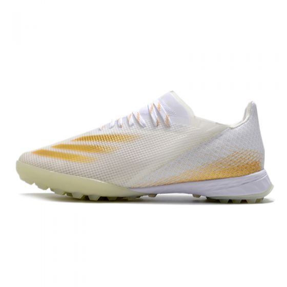 adidas X Ghosted .1 TF - White/Metallic Gold Melange/Silver Metallic