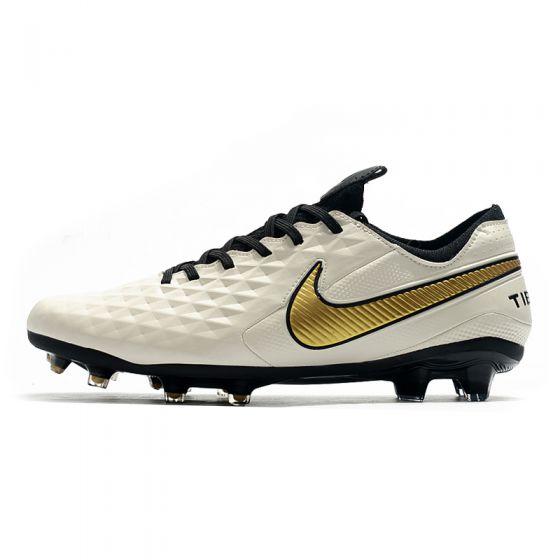 Nike Tiempo Legend 8 Elite FG - White/Gold Metallic