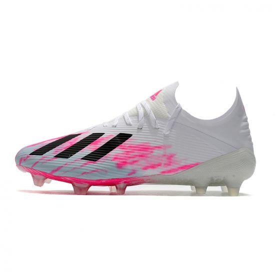 adidas X 19.1 FG - Footwear White/Core Black/Shock Pink