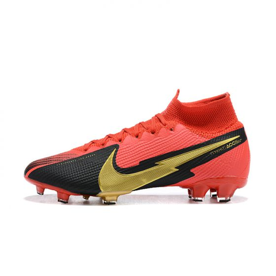 Nike Mercurial Superfly 7 Elite FG Red Black Gold