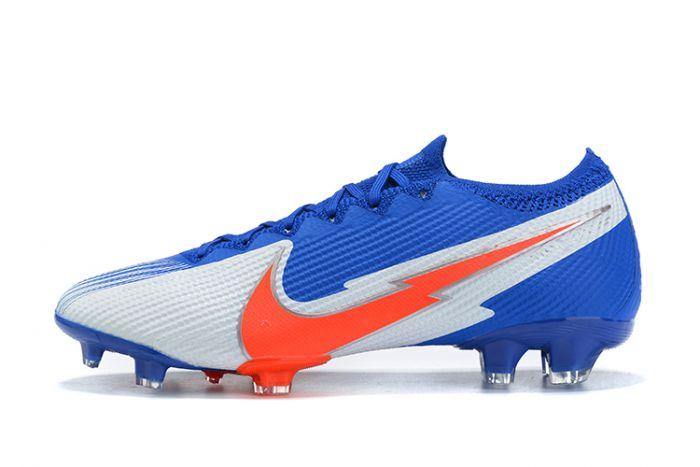 Nike Mercurial Vapor 13 Elite FG Blue White Orange cleats