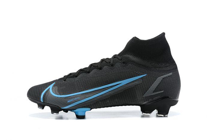 Nike Mercurial Superfly 8 Elite FG Black Blue